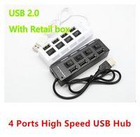 tomas usb de china al por mayor-480mbps Alta velocidad Mini Hub USB Tipo de zócalo 4 puertos Multi cargador Hub USB 2.0 Interruptores de encendido / apagado para PC portátil