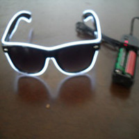 Super Brilho e Alta Qualidade Red Color El Wire Neon Light Glasses Com <b>Dc3v Battery</b> Inverter