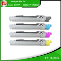 Wholesale Epson Cartridge Set - 4 pk set, Epson C3000, TONER Cartridges Compatible for EPSON Aculaser C3000N ,C3000 ,OEM: S050210-S050213 , Pages : BK 4,000 , C M Y 3,500