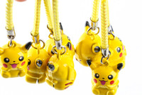 Wholesale Superman Hanging - Hot Sale Action Figures Pikachu Backpack Pendant Mobile Phone Hanging Rope Pendant Ornament Cartoon Figure hang strap Pendant