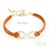 Wholesale 2016 New arrival Fashion Korea personality Eight bangle jewelry infinity symbol charm bangle jewelry