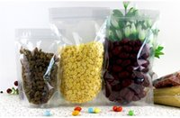 пластиковая цепочка молнии оптовых-Многоразовый Стоьте вверх мешки прозрачной пластмассы ziplock ясно, собственн-загерметизированный мешок застежки-молнии еды уплотнения клип цепи мешок