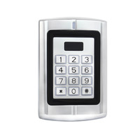 Wholesale Entry Metal Door Access Control - RFID 125KHz EM Card Backlit Keypad Metal Case Access Control for Door Entry Security + 1pcs Protective Rain Cover F1291D