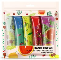 Wholesale Wholesale Mini Lotions - 5pcs set BIOAQUA Moisturizing Hand Cream Mini Cute Hand Lotions Nourishing Hand Feet Care Cream for Men Womem