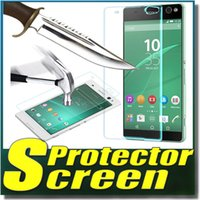 9H anti-fingerprint/shatter-proof/clarity TG006-2 9H Explosion Proof Premium Real Tempered Glass Guard Film Screen Protector For SONY Xperia C C3 C4 C5 E3 T2 T3 SONY Z3 Z4 Z5 MINI Free DHL