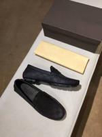 zapatos planos para caminar para hombre al por mayor-Caja original !!! Nueva moda para hombre holgazanes vestido de cuero de la boda calza los zapatos ocasionales de la caminata París Office Drive tacón plano de calidad superior Size38-44
