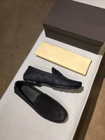 Wholesale box office new - Original Box!!!New Fashion Mens Loafers Dress Wedding Leather Shoes Casual Walk Shoes Paris Office Drive Flat Heel Top Quality Size38-44