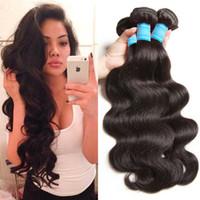 Wholesale vietnamese 7a brazilian hair weave resale online - Brazilian Hair Body Wave Hair Weaves A Great Quality Human Hair Extensions Peruvian Malaysian Indian Brazilian Human Hair weft
