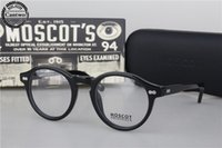Wholesale Vintage Sunglasses Depp - Brand design retro vintage Moscot miltzen johnny depp prescription glasses optical eyeglasses spectacle Sunglasses frame free shipping
