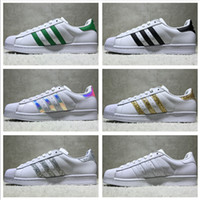 Adidas Originals Superstar White Hologram Iridescent Junior Superstars  Sneakers Super Star Women Men Sport Running Shoes EUR36-45
