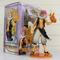 figuras de anime natsu al por mayor-Anime Fairy Tail PVC figura de acción de juguete figura Natsu Dragneel alta calidad del modelo 23cm envío