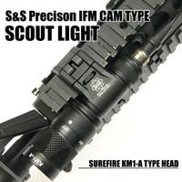 Wholesale Hard Anodizing - Tactical IFM CAM Scout Light Gun light Hard Anodizing Aluminum QD CREE LED Dual-Output Flashlight Black