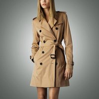 Wholesale Long Coats For Sale - Hot sale 2016 Spring Autumn Brand Casual Trench coat for women Plus Size Long Double breasted Slim Windbreaker Outerwear Coats