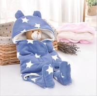 Wholesale Baby Swaddle Fleece - Baby Blankets Newborn Swaddling Toddler Sleeping Bags Stroller Cart Swaddle Fleece Kangaroo Sleep Sack Carrier Winter Wraps Bedding B3582