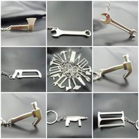 Wholesale Solar Mini Model Car - Mini Cute Creative Model Spanner Keychain Wrench Spanner Key Chain Ring Keyring Tool Kering Best Gift 1000PCS Free DHL F416L