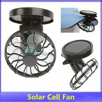 Wholesale Solar Panel Hats - Free Shipping 10 Piece New Solar Cell Fan Sun Power Energy Panel Clip-on Cooling Hat Cooler Fan For Camping Hiking