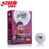 Wholesale Dhs Ball Star - Genuine DHS Table Tennis 3 Stars Ball Joints White 6 Installed New Material Professional Match International Events With The Ball