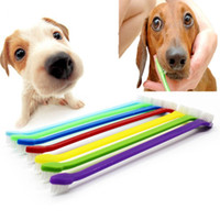 Wholesale Grooming Products For Pet - 240pcs lot Pet Tooth Brush Brand New Lovely Grooming Dual End Tooth Brush For Pet Dog Puppy Cat Small Animals