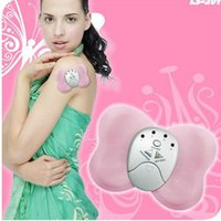Wholesale Mini Massager Butterfly - Butterfly Design Body Muscle Massager Electronic Mini Slimming Massager for Lady Girl - Color Assorted