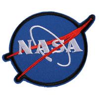 parches de costura frescos al por mayor-Parches bordados de la NASA Planchado Coser Aplique Espacio fresco Ropa Insignia Pegatinas Chaquetas Camiseta Zapatos Bolsos DIY Decoración Parche