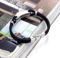 Wholesale Men Titanium Rubber Bracelet - Creative Titanium Rubber Bracelet Rubber Wristband Titanium Bracelets for Men Stainless Steel Bangles Fashion Charm Jewelry