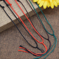 Wholesale Pendant For Beading - Craft wire 4 color necklace cord String Rope Wire beading wires DIY jewelry component length 45-60cm diameter 1.5mm adjustable for Pendant