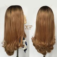 ingrosso capelli ebrei-La maggior parte delle popolari radici scure bionda colore 5 * 5 parrucca kosher parrucca ebraica capelli lunghi parrucca europea lunga 25