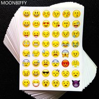 Wholesale 3d alphabet - 1 sheet 3D sticker 48 Emoji stickers Smile face stickers for notebook, message Twitter Large Viny Instagram Smiling toys