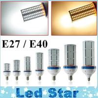 Wholesale Cooling Fans Ac - 30W 40W 60W 80 100W 120W 140W LED Corn Bulbs with input Cooling Fan High Bright E27 E40 Led Light Bulbs AC 110-240V