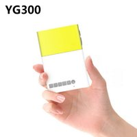 projektor hdmi eingang geführt großhandel-Großhandels-Mini Pico Projektor Portable Pocket Beamer YG300 Portable LED Projektor Kino Theater USB / SD / AV / HDMI-Eingang