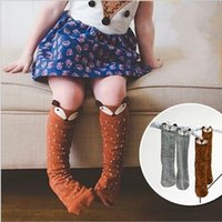 Wholesale Infants Knee Socks - HOT Kids Lovely 3D Knee High Fox socks high quality infant Baby Boy Girl Leg Warmers stocking suitable for 0-4Y Cotton Animal image