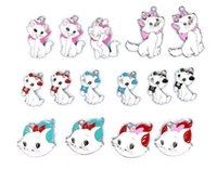 Wholesale Marie Cat Toy - Wholesale 50 Pcs Mix Style Cartoon Animation Character Marie Cat Metal Charm Pendants Jewelry Making Toy Gift