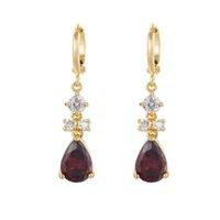 Wholesale Coloured Crystal Chandeliers - Earring Jewelry 3pairs Lot Eardrop Women's Fashion Jewelry Glass Coloured Glaze Rhinestone Ear Clip Crystal Earrings
