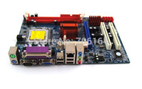 Wholesale Motherboard 775 Socket - Free shipping brand new Itel G41 + ICH7R chipset G41 Motherboard with LGA 775 socket Supports DDR3 DRAM