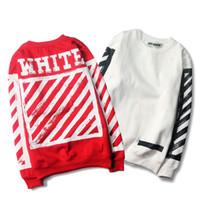 Wholesale Womens Red Sweatshirt - Warm hip hop off white hoodie sweatshirt women men hoodie fashion sweatshirts casual skateboard womens pullover hoodies for men