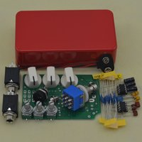 elektrik gitar setleri toptan satış-DIY Overdrive Gitar Efekt Pedal Gerçek Bypass Elektro gitar stompbox pedallar OD2 Kitleri R