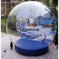 Wholesale inflatable globe ball for sale - Christmas inflatable snow globe tent Top quality Inflatable Snow Globe Ball For Advertising Inflatable human snow globe