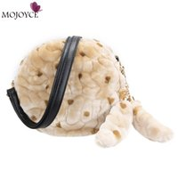 Hot Luxury Women Handbag Rabbit Fur Clutch Evening Bags Ladies Small Messenger Bags Bolsas de mulher Winter Crossbody Bag