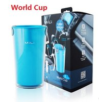 Wholesale Usb World Cup - MiLi New MFI World-Cup Travel USB Car Charger for Cell Phones Universal Multi USB Ports Charger with Cup Holder Power Adapter