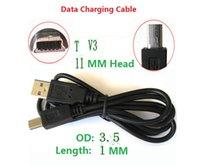 Wholesale Mini Usb Pin 1m - Mini 5pin cables 100cm 1m 3ft Mini USB 5 PIN usb cable OD3.5 Pure Copper Core USB line in stock