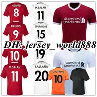 5764e0e2a Top Thai quality 2017 2018 Home Soccer Jersey 17 18 GERRARD COUTINHO  FIRMINO HENDERSON STURRIDGE LALLANA M.SALAH Away white Football shirts ...