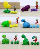 ingrosso bambole giocattolo zombie-2016 Nuove Piante vs Zombi Figura Giocattoli Gatling Pisello ABS Shooting Doll PVZ Giocattoli 15 stili per le scelte 1PC