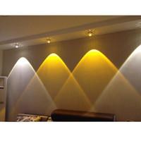 luzes modernas para sala de estar venda por atacado-3 W Cristal Levou luzes de teto restaurante ktv corredor sala de estar varanda lâmpada moderna iluminação led para decoração de casa luminária