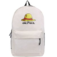 Wholesale Monkey D Luffy Hat - Monkey D Luffy backpack One piece school bag Hat cartoon characters day pack Hot sale game daypack