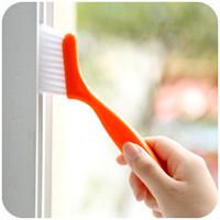 escovar janelas limpas venda por atacado-2 em 1 Multipurpose Janela Ranhura Escova De Limpeza Nook Cranny Teclado Household Cozinha Dobrável Escova De Limpeza Ferramenta de Casa