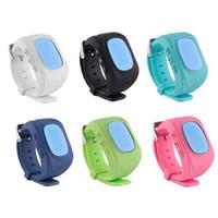 gsm tracker téléphone achat en gros de-Q50 Enfants GPS Tracker Enfants Smart Phone Montre SIM Quad Band GSM SOS Sécurisé Appel Pour Android IOS Smart Watch Sim Carte