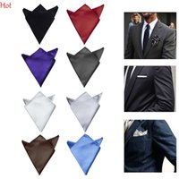 Wholesale Purple Ascot Cravat - Male Hankerchief Scarves Vintage Hankies Mens Pocket Square Handkerchiefs Gentalmen Satin Party Blazer Handkerchiefs Ascot Cravat LPQ001288