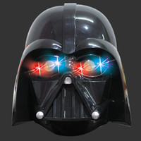Wholesale Darth Warrior - Wholesale-Star Wars Light Led Mask Kylo Ren Darth Vader Empire Storm Clone Trooper Helmet Black Warrior Empire Soldiers Halloween Mask