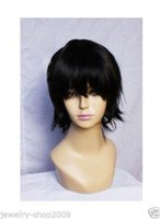 Wholesale Alice Black Wig - Free Shipping New High Quality Fashion Picture full lace wigs>> New wig Cosplay Short Black Fashion Anti-Alice Wigs