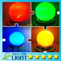 e27 шаровые шаровые лампы оптовых-X100 DHL RGB Полноцветный 0.5 Вт 1 Вт 2 Вт 3 Вт E27 Светодиодный шарик Лампа световой эффект DJ глобус Лампа пузырь Сценическое освещение